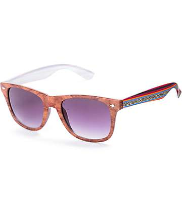 Baja Blanket Brown Classic Wood Sunglasses