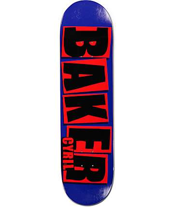 "Baker Cyril Brand Name 8.125"" Skateboard Deck"