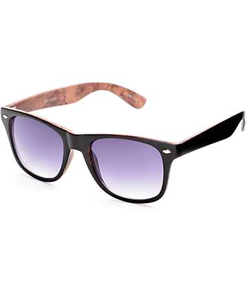 Bali Black & Wood Classic Sunglasses