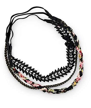 Bandas de cabeza floral & encage
