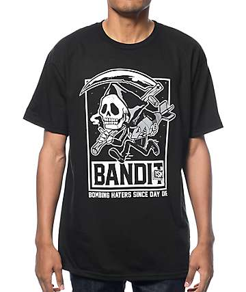 Bandit-1$M Skull Mascot Black T-Shirt