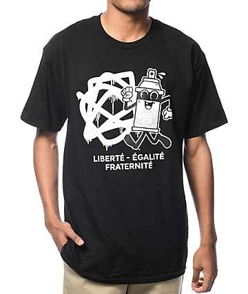 Bandit-1$M Spray Can 2 Black T-Shirt
