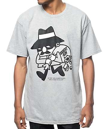 Bandit-1$M The Robber Heather Grey T-Shirt