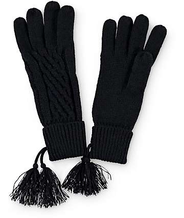 Basic Knit Black Gloves
