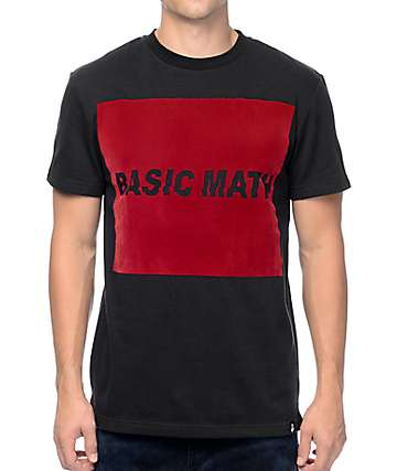 Basic Math Felt Logo Black T-Shirt