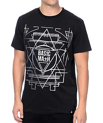 Basic Math Iridescent Black T-Shirt