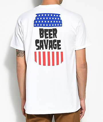 Beer Savage Domestic camiseta blanca