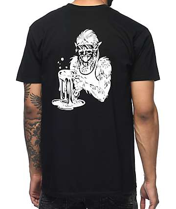 Beer Savage Logo Black T-Shirt
