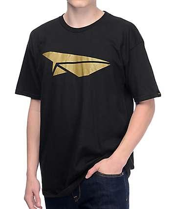 Benny Gold Classic Paper Plane Black T-Shirt