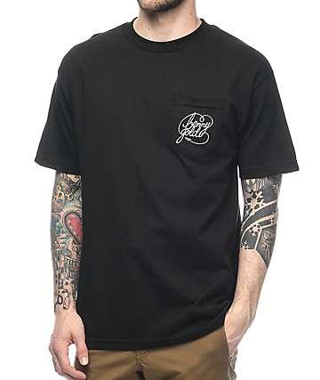 Benny Gold Classic Script Black Pocket T-Shirt
