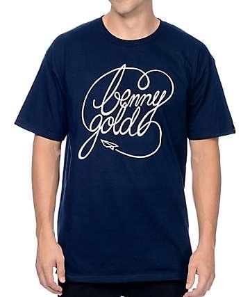Benny Gold Classic Script Navy T-Shirt
