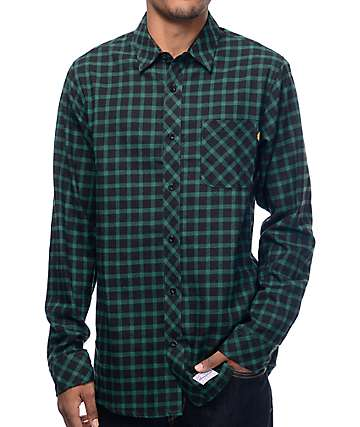 Benny Gold Lodge Forrest Green Flannel Long Sleeve Shirt