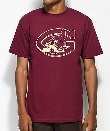 Benny Gold Mascot Burgundy T-Shirt