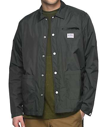 Benny Gold Nylon Chore Moss Coaches Jacket