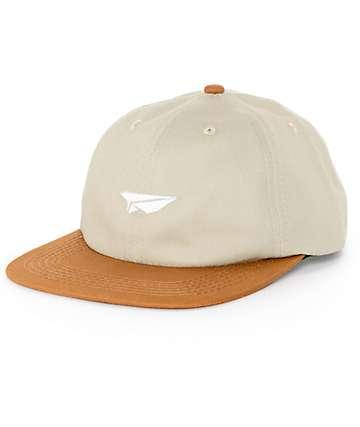 Benny Gold Paper Plane Khaki Strapback Hat