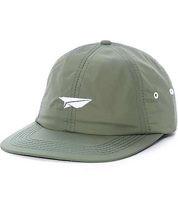 Benny Gold Paper Plane Moss Green Nylon Hat