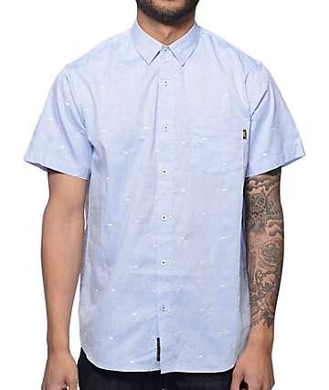 Benny Gold Paper Plane Sky Blue Button Up Shirt