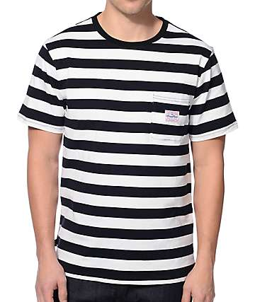 Benny Gold Premium Stripe Black Pocket T-Shirt