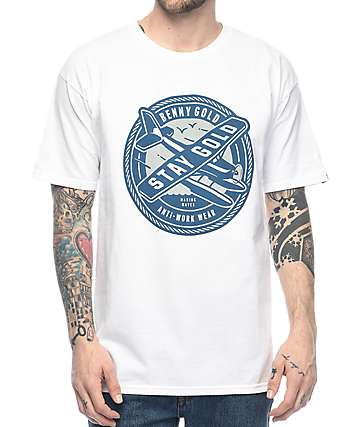 Benny Gold Sea Plane White T-Shirt