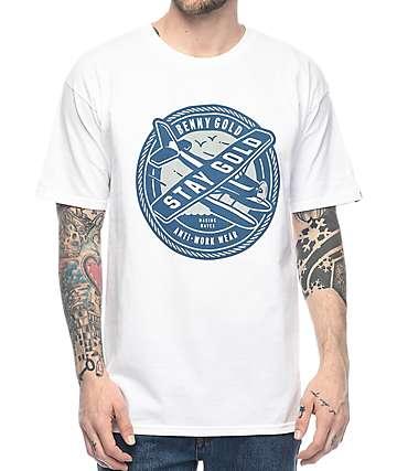Benny Gold Sea Plane camiseta blanca