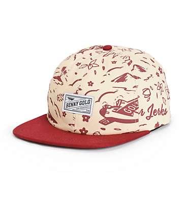 Benny Gold Tropics Pattern Polo Strapback Hat