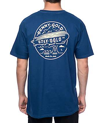 Benny Gold Zeppelin Harbor Blue T-Shirt