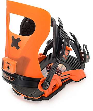 Bent Metal Logic Orange Snowboard Bindings