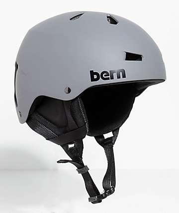 Bern Team Macon Matte Grey Snowboard Helmet