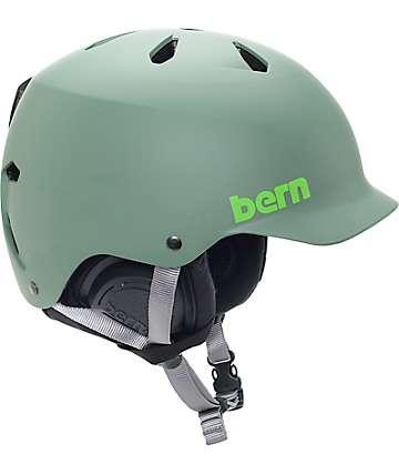 Bern Watts EPS Matte Leaf casco de snowboard verde