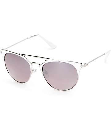 Big Shot White & Silver Sunglasses
