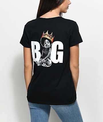Biggie Baby Crown Black T-Shirt