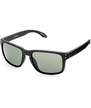 Biker Rubberized Black Sunglasses