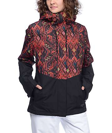 Billabong Akira chaqueta de snowboard 10K en tribal y negro
