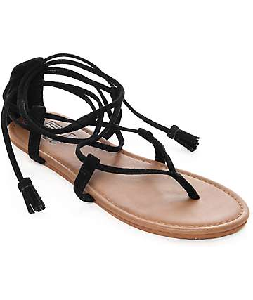 Billabong Around The Sun Black Sandals