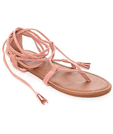 Billabong Around The Sun Dusty Rose Sandals