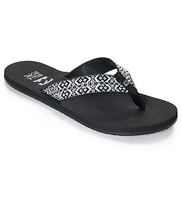 Billabong Baja Black & White Woven Sandals