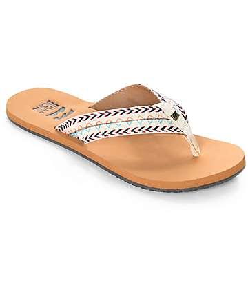 Billabong Baja White Cap sandalias tejidas