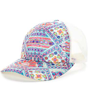 Billabong Beach Beauty Multi White Trucker Hat