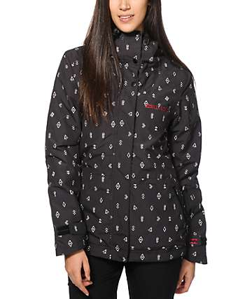 Billabong Cheeky Black Print 10K Snowboard Jacket