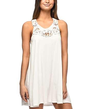 Billabong Easy Show vestido blanco con puntilla