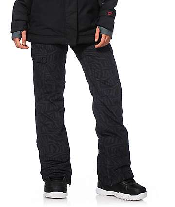 Billabong Effect Black Print 10K Snowboard Pants
