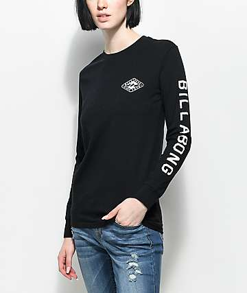 Billabong Heritage Diamond Black Long Sleeve T-Shirt