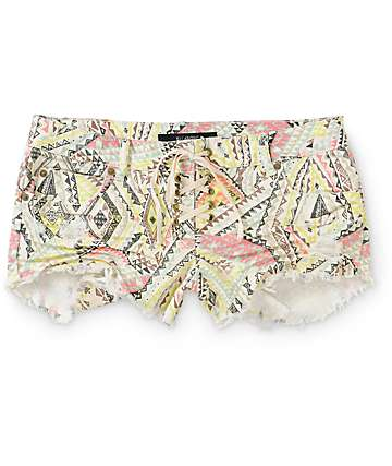 Billabong Lite Hearted Bandit Tribal Denim Shorts