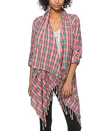 Billabong Live It Up Flannel Cardigan