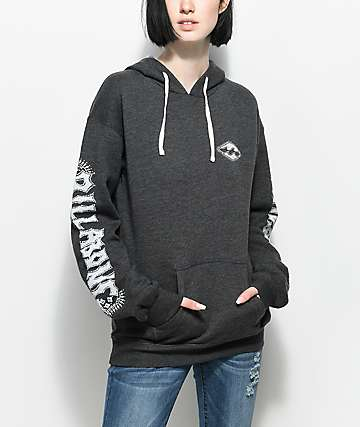 Billabong Painted Logo Charcoal Hoodie
