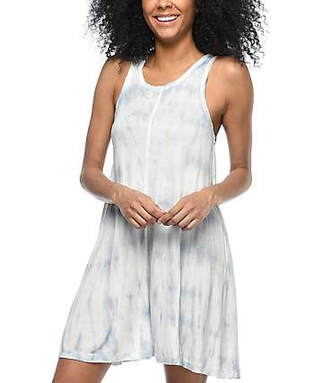 Billabong Spirit Ride Blue Tie Dye Dress