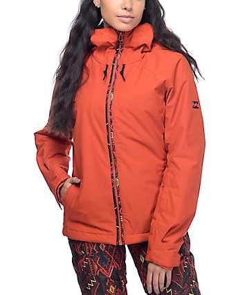 Billabong Terra chaqueta de snowboard 10K en rojo sólido