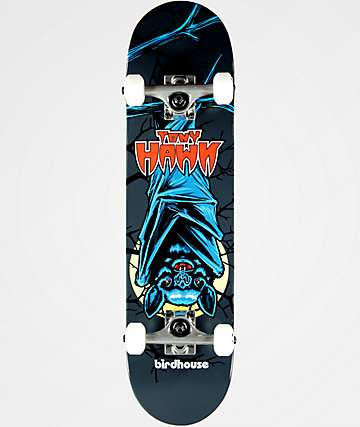 "Birdhouse Tony Hawk Bat 7.38"" Mini Skateboard Complete"