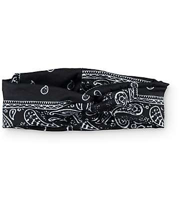 Black Bandana Twist Headband