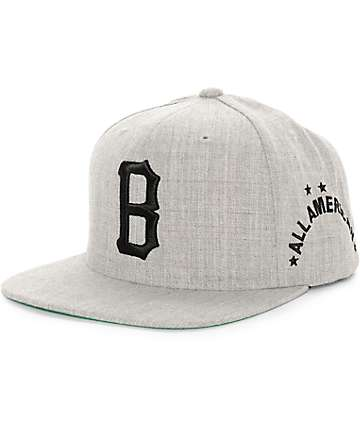 Black Scale B Logo Snapback Hat